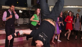 breakdancing at Bar Mitzvah