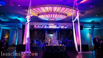 stage and lighting holiday party