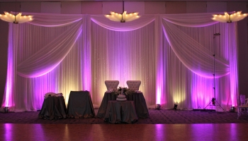 draping and up lighting